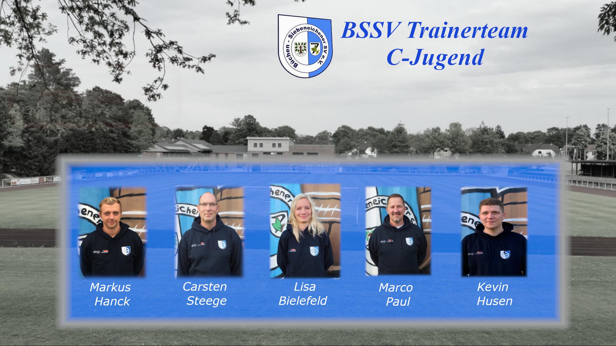 Das Trainerteam der C-Jugend