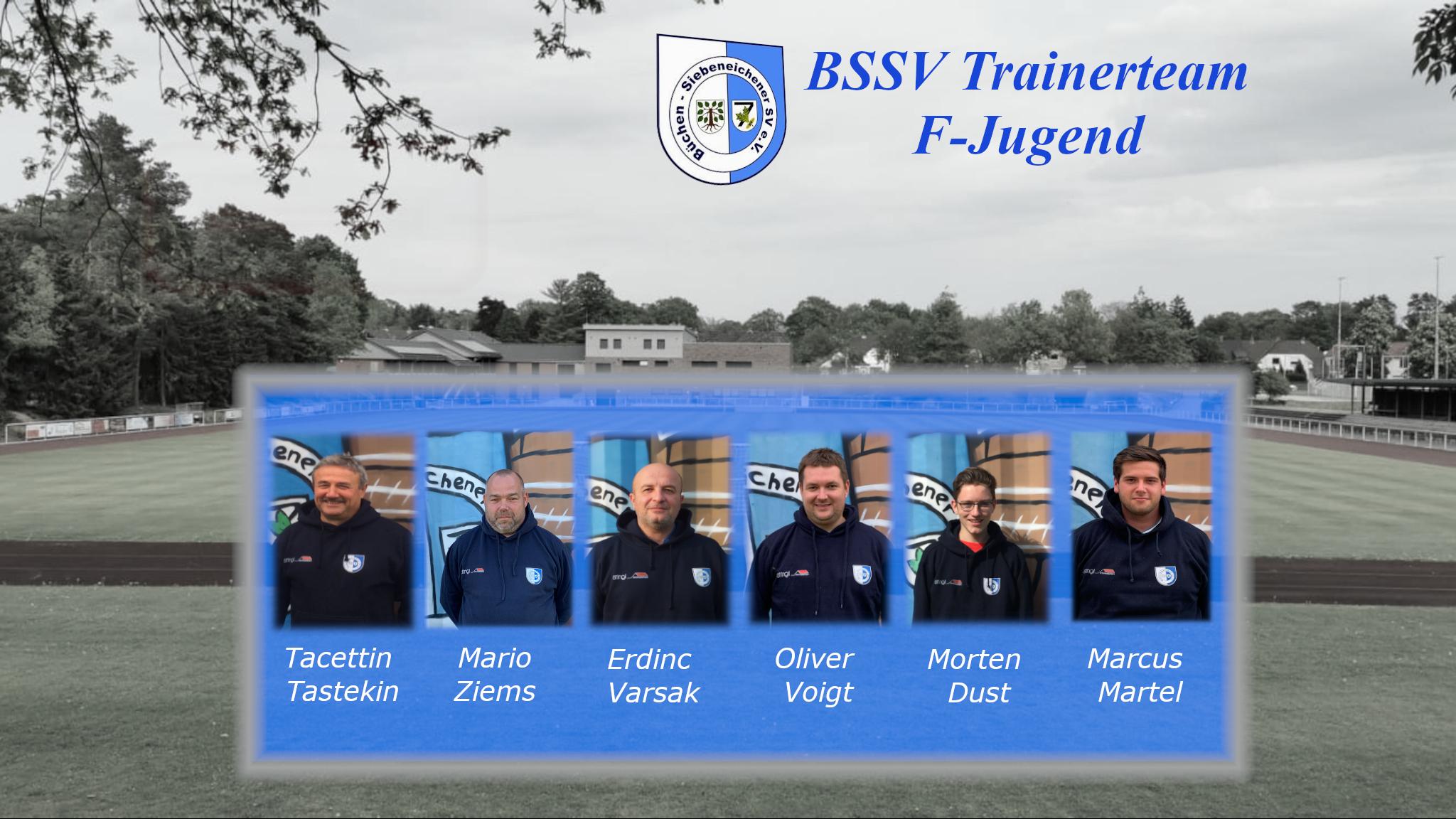 Das Trainerteam der F-Jugend des BSSVs