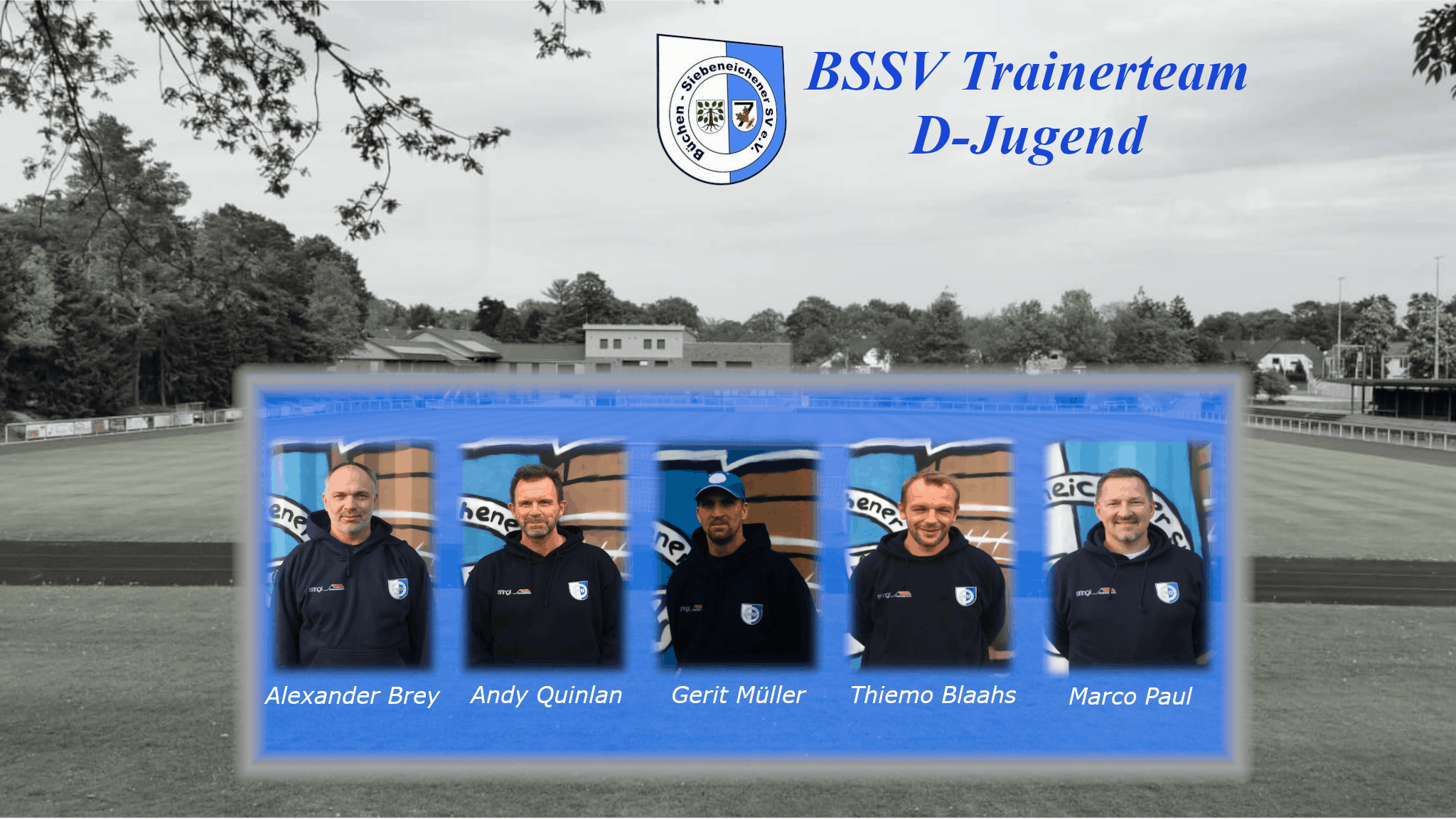 Das Trainerteam der D-Jugend