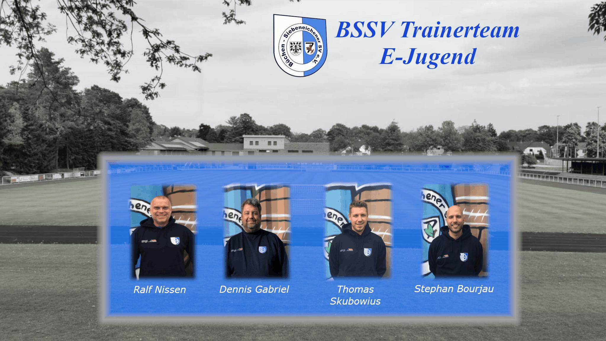 Das Trainerteam der E-Jugend
